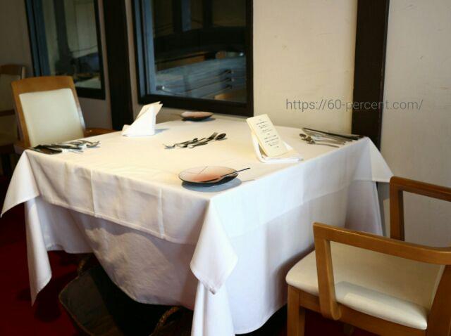 貴匠桜のテーブルセッティングの画像