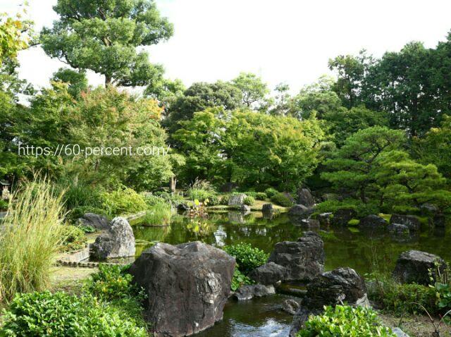 城南宮の平安の庭の池の庭の画像
