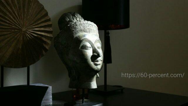 わが家の仏頭の画像